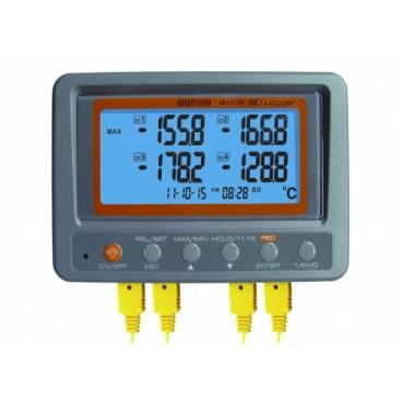 Inregistrator temperatura multicanal 4x termocuplu K cu SD Card 88598