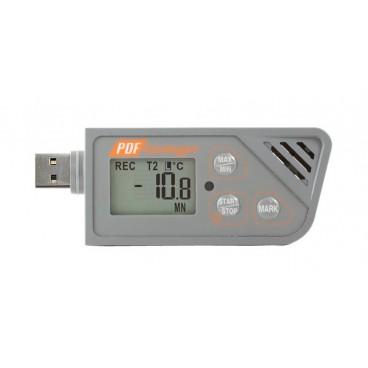 Inregistrator Dual Temperatura si Umiditate USB cu raport PDF 88162