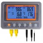 Înregistrator de temperatură cu releu, cu 4 canale, cu termocuplu K, cu termistor, cu SD card 88599