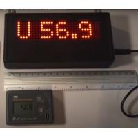 Afisaj pentru inregistrator de temperatura si umiditate cu Bluetooth